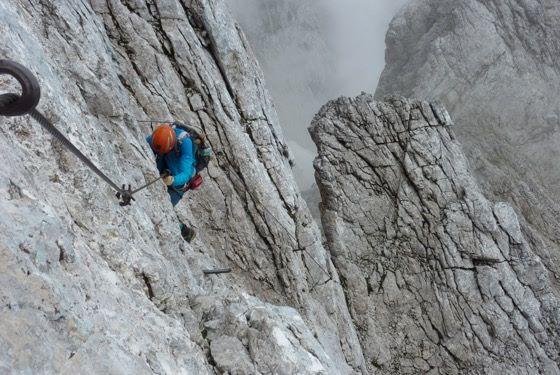 Klettersteig Near Munich : Alpspitze and matheisenkar via ferrata b c at s bahn pasing munich
