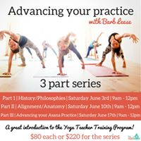 Advancing your practice - 3 part series