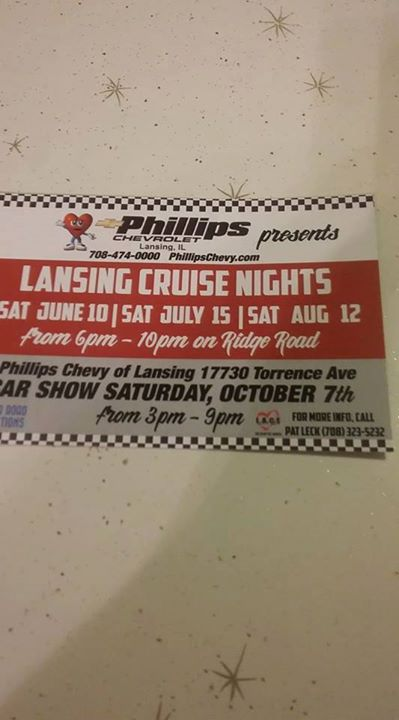 Phillips Chevy Of Lansing Illinois CAR SHOW Lansing - Phillips chevy car show