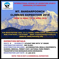 Mt. Bandarpoonch (6316 M) Climbing Expedition 2018