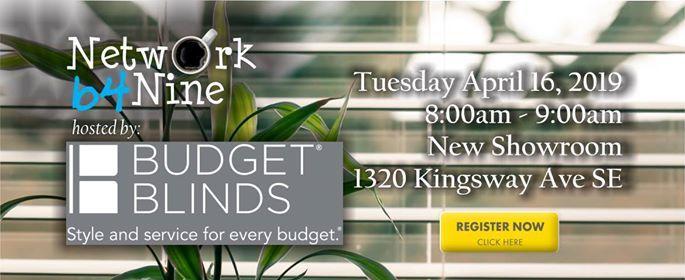 Network B4 Nine Budget Blinds Medicine Hat