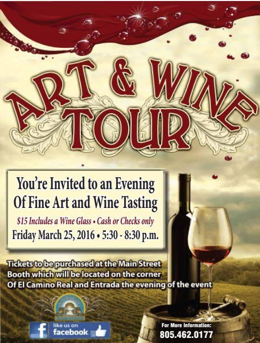 Art wine tour at city of atascadero atascadero for Wine painting san antonio