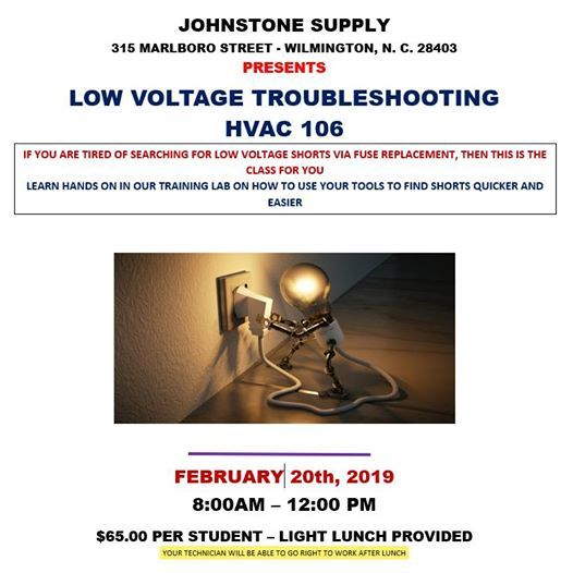 HVAC 106 Low Voltage Troubleshooting at Johnstone Supply