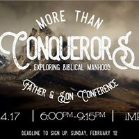 More than Conquerors Father &amp Son Conference