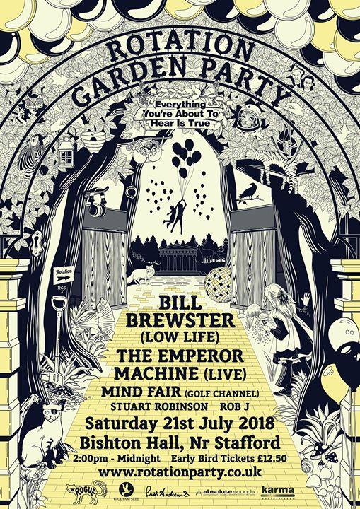 Rotation Garden Party w Bill Brewster & The Emperor Machine(Live)