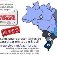 REPRESENTANTE DE VENDAS (TODO BRASIL)