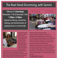 Root hand drumming with Sammi
