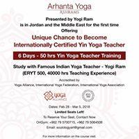 6 Days - 50 hrs Yin Yoga Teacher Training