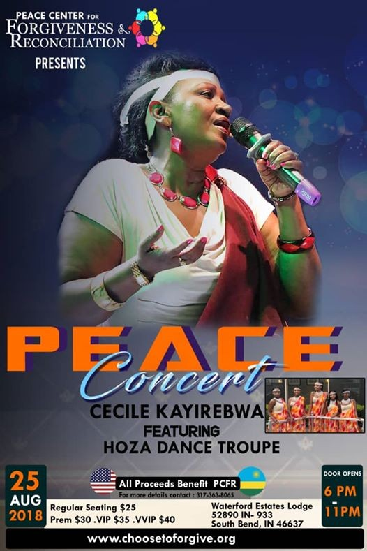 2018 PCFR Peace Concert with Cecile Kayirebwa