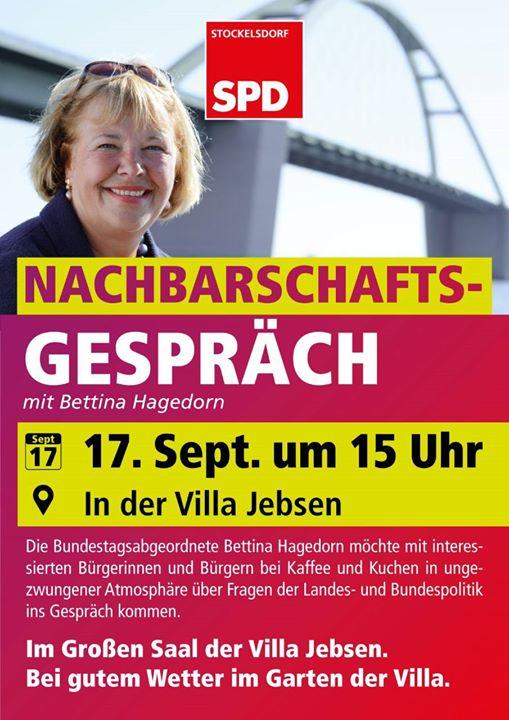 Bettina Hagedorn nachbarschaftsgespräch mit bettina hagedorn at 23617 stockelsdorf