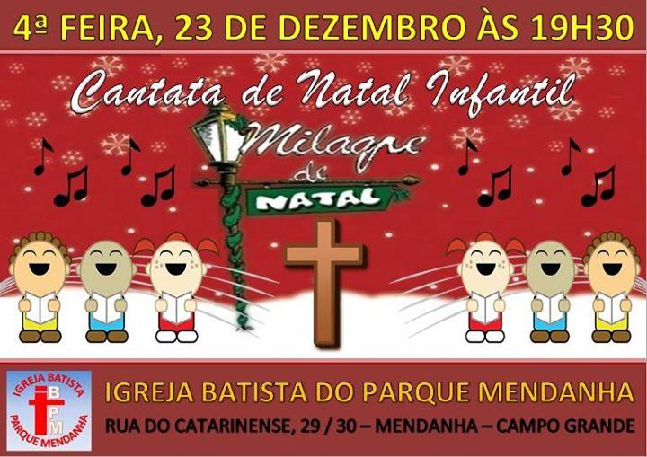cantata de natal infantil milagre de natal