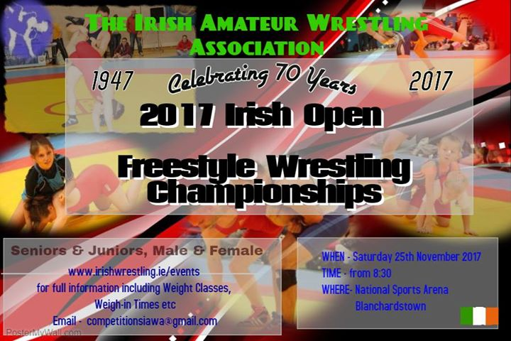 Irish Open Freestyle Wrestling Championships 2017