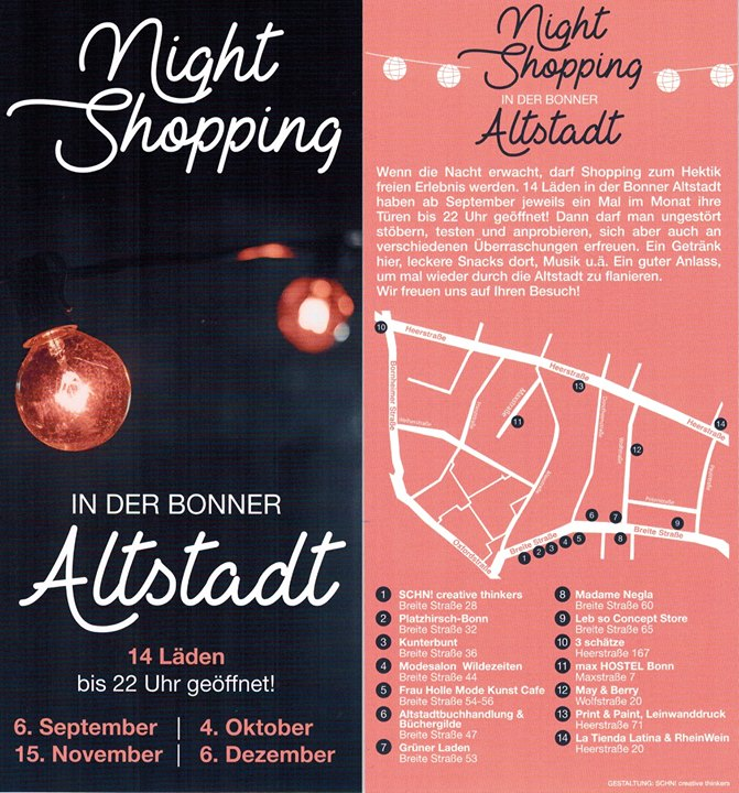 Night Shopping in der Bonner Altstadt at Altstadtbuchhandlung ...