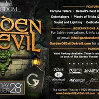 Haunted Kingdom presents The Garden of Evil on Sat Oct 28th