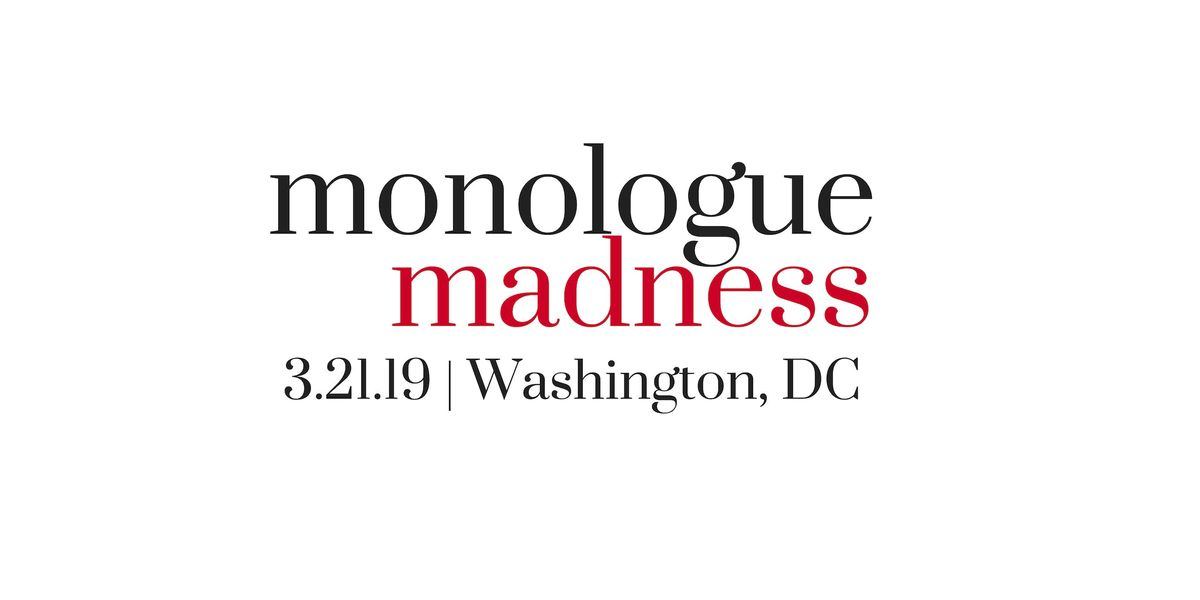 Monologue Madness 2019 Actor Registration