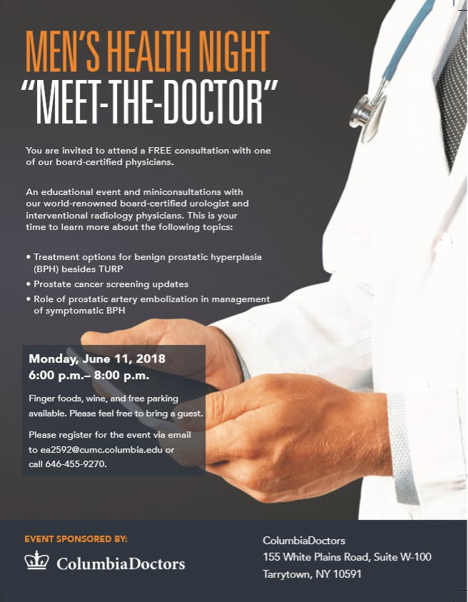 Meet the Doctor- Mens Health #Urology #Prostate at 155 White Plains