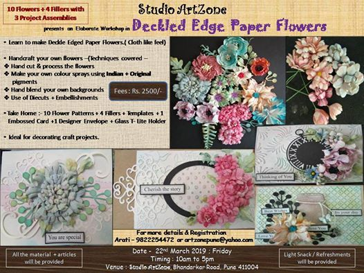 Deckled Edge Paper Flowers