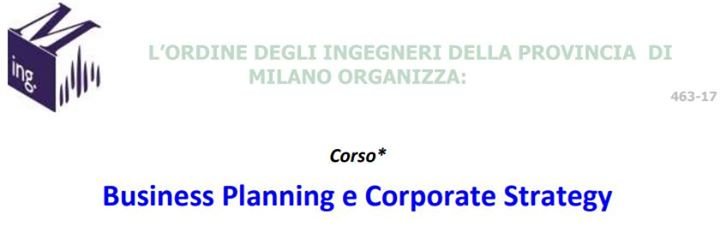 Business Planning e Corporate Strategy