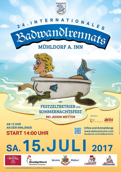 24. intern. Badwandlrennats at Mühldorf am Inn, Germany, Mühldorf am Inn