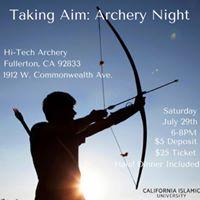Taking Aim Archery Night