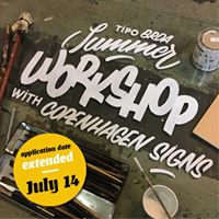 Tipo Brda summer workshop  Hand painted signs
