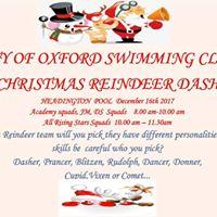 City of Oxford Swimming Club Christmas Reindeer Dash