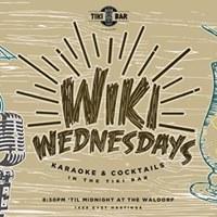 Wiki Wednesdays Karaoke Night in the Tiki Bar