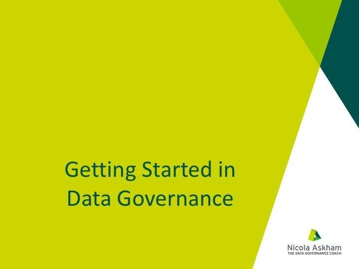 Getting Started in Data Governance - Eindhoven March 2019