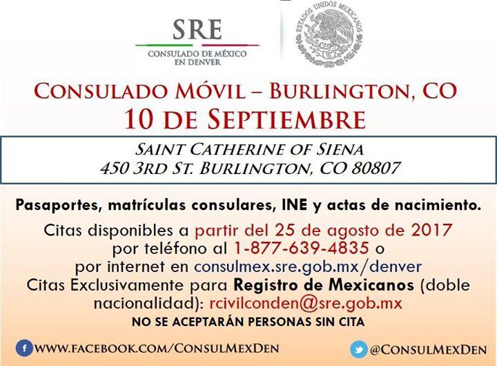 Consulado Móvil en Burlington, CO. at Saint Catherine of Siena 450 ...