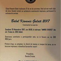 Balul Caritabil organizat de Clubul Kiwanis Galati