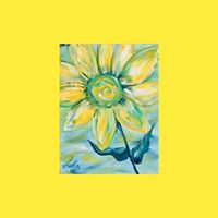 &quotSunny Side Up&quot Abstract Sunflower