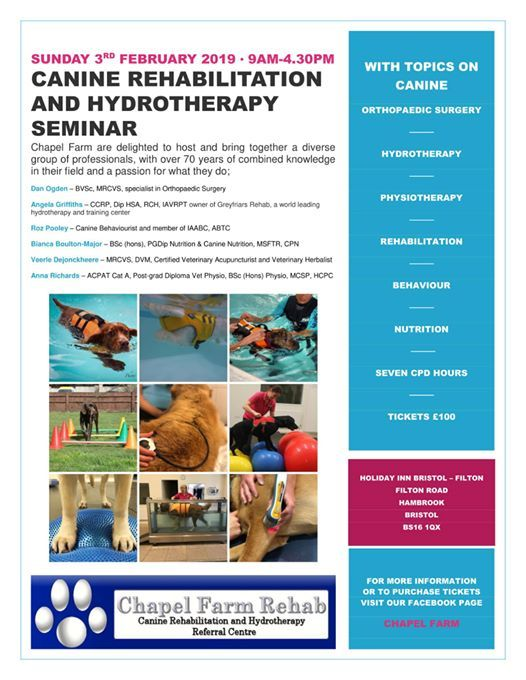 Canine Rehabilitation and Hydrotherapy Seminar