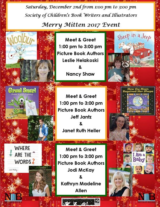 Meet Six Michigan Authors for the SCBWI Merry Mitten 2017 Event