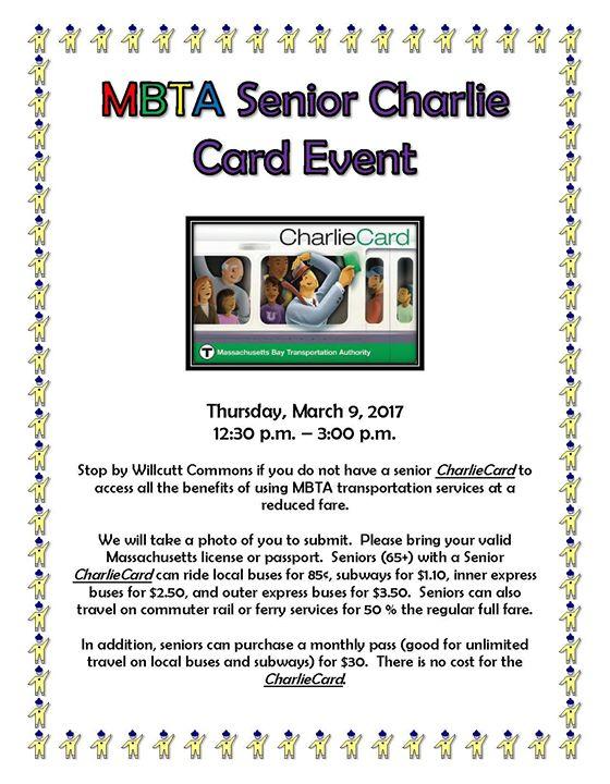 MBTA Senior Charlie Card Event at Cohasset Elder Affairs