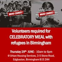 Celebratory Meal for refugees - volunteers needed