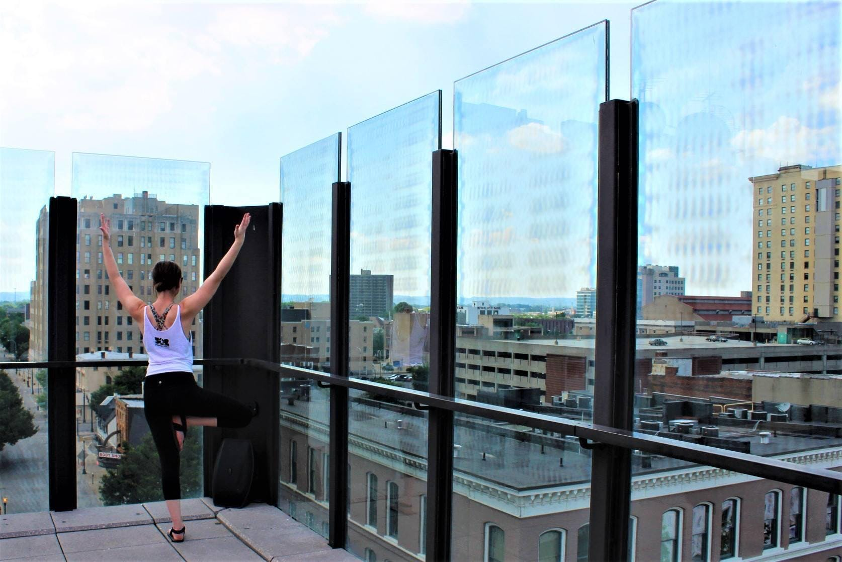Rooftop Yoga by Yoga in Weird Places at 8UP Elevated Drinkery ...