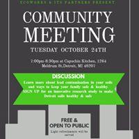 Community Meeting Detroit Soil Health &amp Lead Contamination