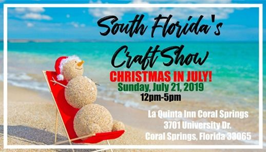 Christmas In Florida Images.South Floridas Craft Show Christmas In July At La Quinta