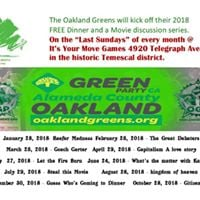 Oakland Greens Free Dinner and a Movie