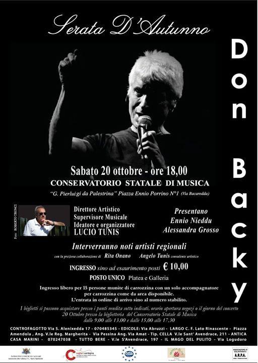 DON BACKY & Lucio Tunis Al Conservatorio Di Cagliari