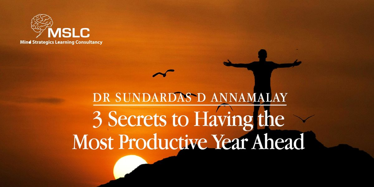3 Secrets to Having the Most Productive Year Ahead