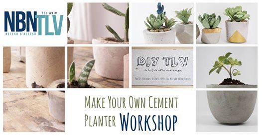 Diy Night Make Your Own Cement Planter At Nbn Tlvrothschild