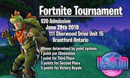 Fortnite Tournament at LAN Planet, Brantford