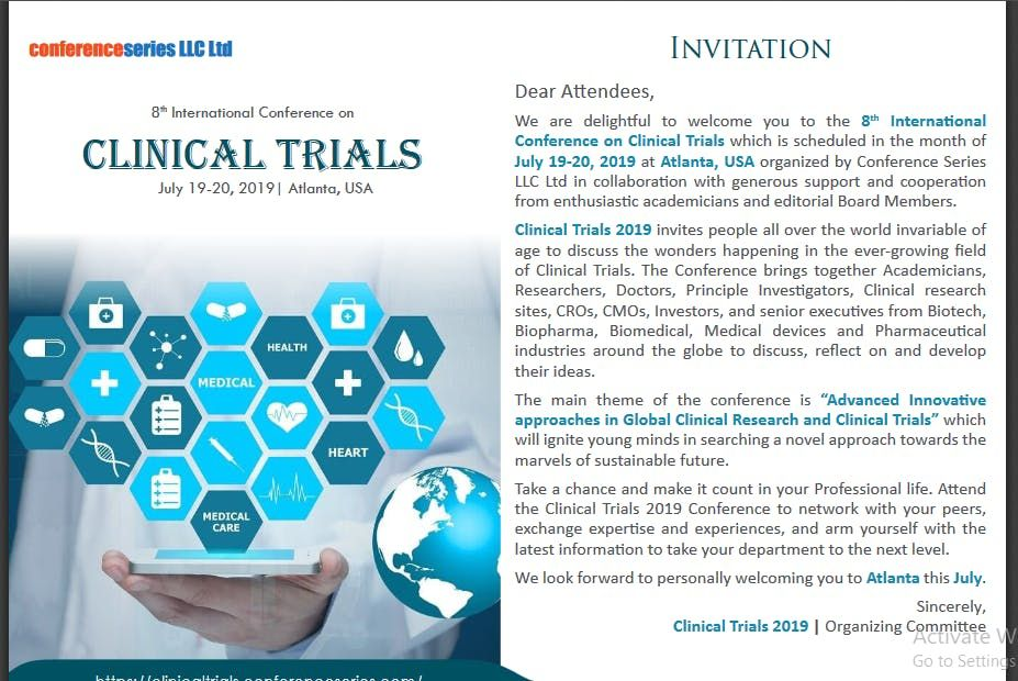 8th International Conference on Clinical Trials (CSE)