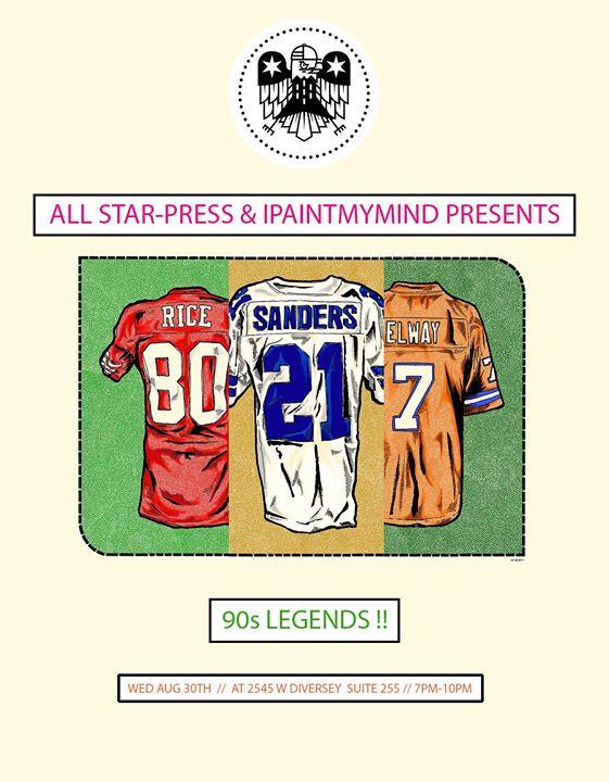 1397dafdb81930 90s Legends by All Star Press at IPaintMyMind