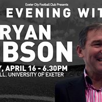 An Evening With Bryan Robson Monday April 16