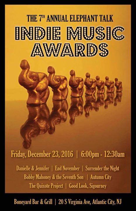 2016 elephant talk indie music awards ( Friday December 23rd) at the boneyard
