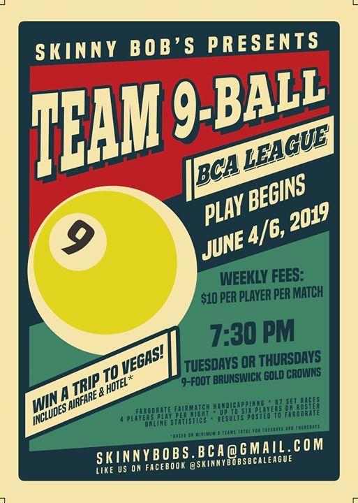 Skinny Bobs BCA Team 9-Ball League | Round Rock