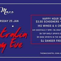 Macs Hotel Australia Day Eve Party - Jan 25th