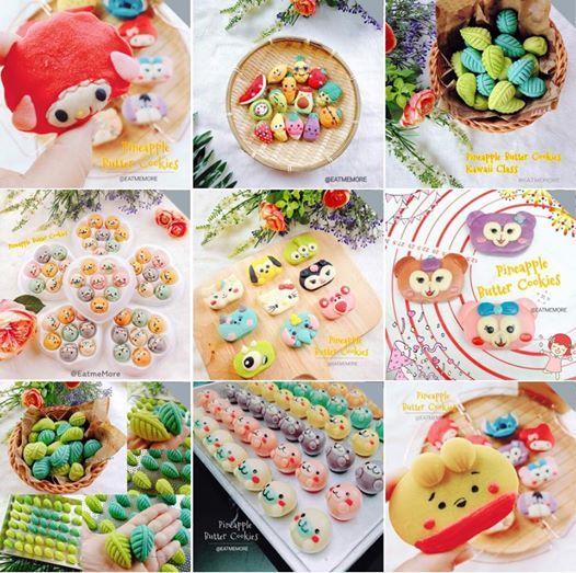 Pineapple Cookies Butter Kawaii